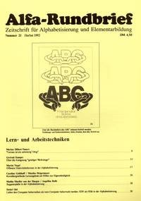 Alfa-Rundbrief Nr. 21 (1992)