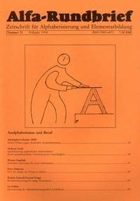 Alfa-Rundbrief Nr. 25 (1994) (Kopien)