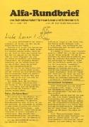 Alfa-Rundbrief Nr. 1 (1985)